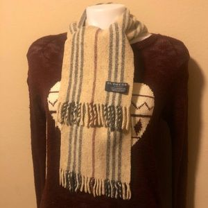 Burberry London Lambswool Skinny Scarf